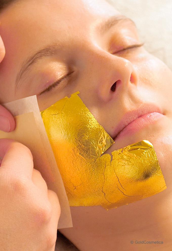 Blattgold Gesichtsmaske
