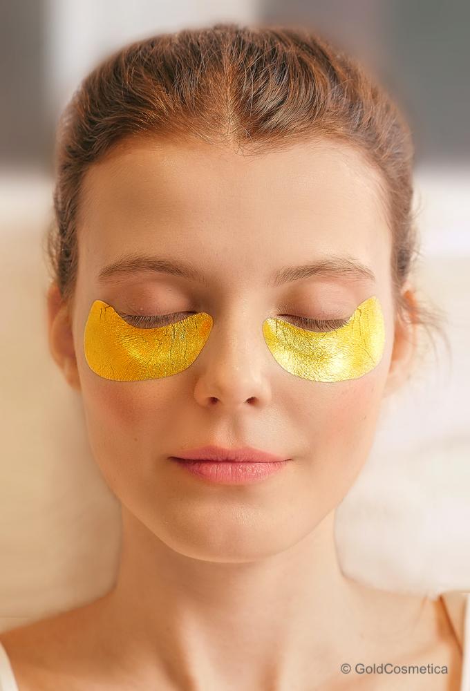 Blattgold Augenmaske