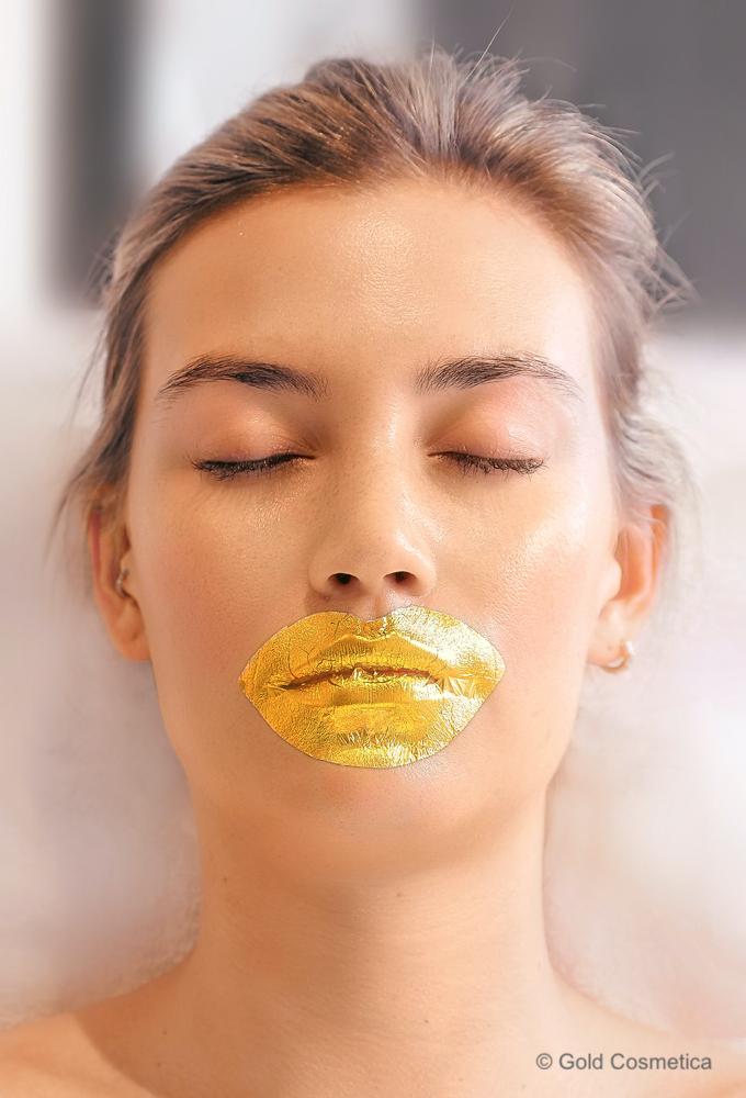 Blattgold Lippenmaske