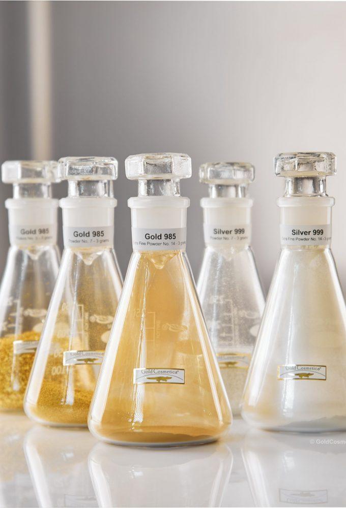 Kosmetisches Blattgold, Silber und Platin für Hautpflegeprodukte